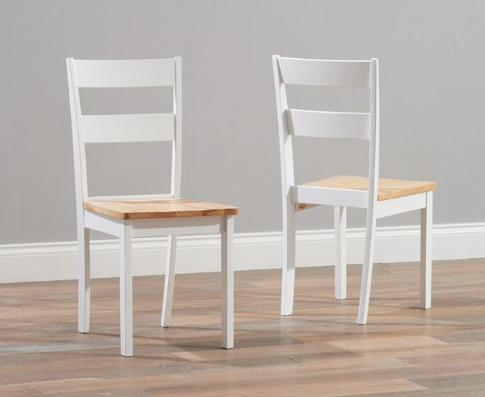 Chichester Painted Oak White Wooden Dining Chair