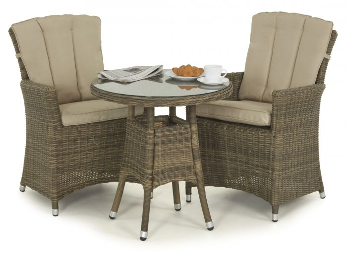 Winchester Weave Range  sc 1 st  First Furniture & Maze Rattan Winchester Natural Rattan 2 Seater Bistro Set With ...