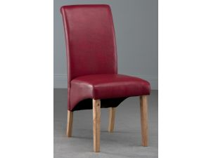 Henley Red Faux Leather KD Dining Chair