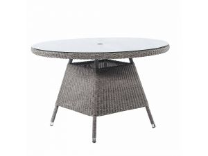 Alexander Rose Monte Carlo Table With 1.2M Round Glass Top