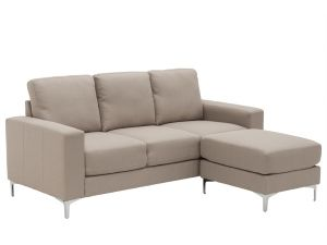Sicily Oyster Fabric 3 Seater Sofa