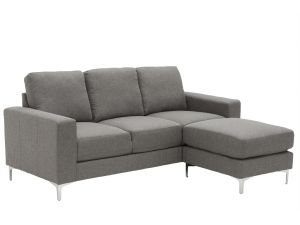 Sicily Grey Fabric 3 Seater Sofa