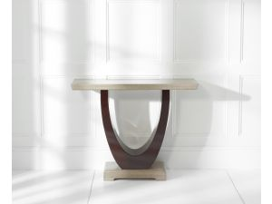 Rivilino Brown Marble Console Table