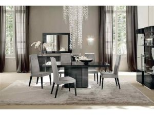 Alf Italia Monte Carlo Small Extending Dining Table + 6 Fabric chairs