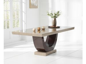 Rivilino 200cm Brown Marble Rect. Dining Table