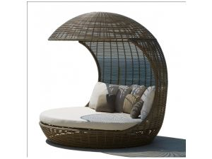 Skyline Rattan Cancun Day Bed