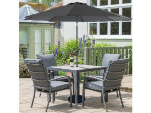Leisuregrow Milan Grey 2.5m Parasol