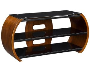 Jual JF208 Curved Walnut TV Stand