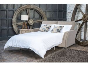 Alstons Venice 3 Seater Fabric Sofa Bed with Mattress