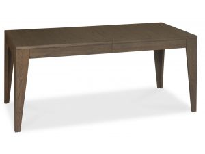 Bentley Designs City Soft Grey and Weathered Oak 6-8 Ext. Dining Table
