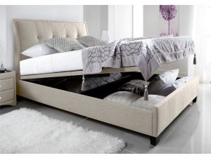 Kaydian Accent 6ft Super Kingsize Oatmeal Fabric Ottoman Bed