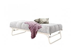 Birlea Trundle 3ft Single Cream Metal Bed