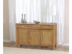 Verona Solid Oak Medium Fingerjoint Style Sideboard