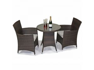 Royalcraft Cannes Brown 70 Cm Round 2 Seater Rattan Bistro Set