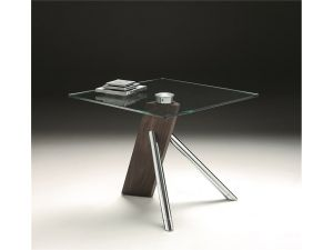 Chelsom Relax Clear Glass Square Lamp Table