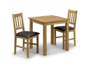 Julian Bowen Coxmoor Square Dining Table And 2 Chairs