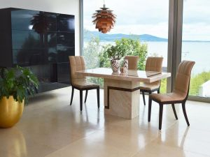 Filippo 120cm Marble Dining Table With 4 Filippo Chairs