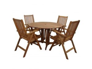 Royalcraft Henley 4 Seater Gateleg Dining Set with Manhattan Recliner Chairs