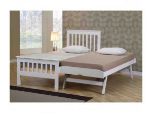 Emporia Sophia 3ft Single White Wooden Guest Bed