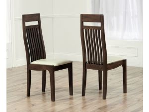 Monte Carlo Dark Solid Oak Dining Chair X 2