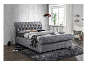 Birlea Castello 4ft6 Double Steel Fabric Side Ottoman Bed