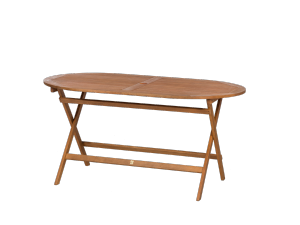 Royalcraft Torino 150cm Oval Wooden Folding Dining Table