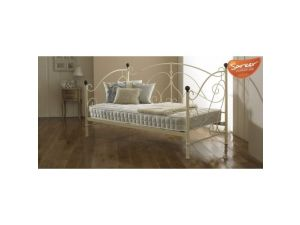 Sareer Milano Cream 3ft Single Metal Day Bed