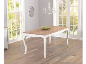 Sienna Acacia and Painted Ivory Dining Table