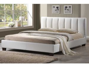 Limelight Pulsar White Faux Leather 4ft Small Double Bed Frame