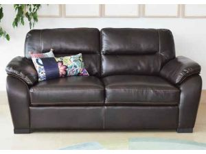 Matteo Brown Leather 3 Seater Sofa