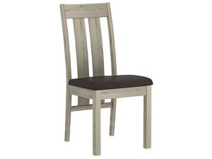 Bentley Designs Turin Aged Oak Circular Glass Table And 4 Slatted Chairs