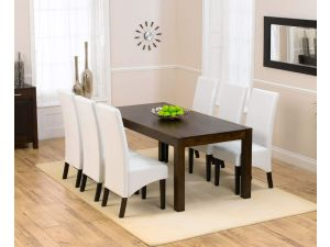 Verona Dark 180cm Dining Table + 6 Verona Chairs Set