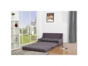 Dos Modern Willow Grey Fabric Sofa Bed