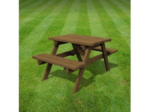 Rutland Oakham 3ft Rustic Brown Picnic Bench