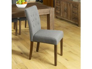 Shiro Walnut Flare Back Slate Upholstered Dining Chair Pair