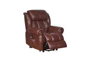 Wiltshire Dual Motor Chestnut Leather Riser Recliner Chair