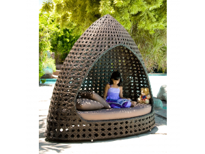 Alexander Rose Ocean Relax Garden Hut W.Cushion (12mm Brown)
