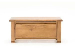 York Solid Oak Blanket Box
