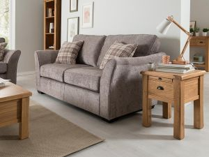 Arran 3 Seater Grey Fabric Sofa With 2 Scatter Cushions