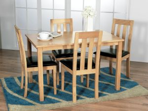 Annecy Oak 120cm Dining Table