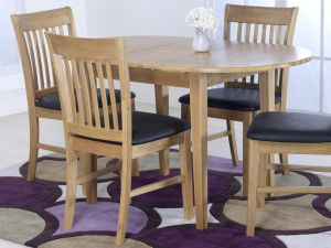 Cleo Wooden 105cm Ext. Dining Table
