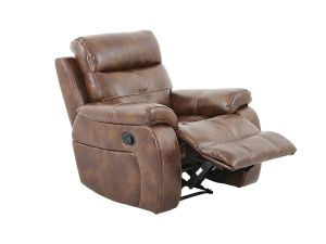 Bellini 1 Seater Banor Chestnut Leather Recliner Chair