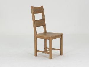 Breeze Solid Seat Oak Dining Chair