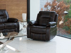 Kennedy Recliner Brown Leather Armchair