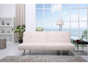 Tulip Luxurious Beige Fabric Sofa Bed