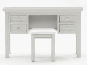 Deauville Taupe Wooden Dressing Table And Stool