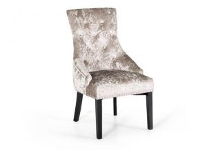 Eden Knockerback Mink Fabric Chair KD