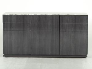 Donatella Grey Marble Large 3 Door Sideboard
