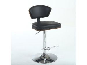 Shankar Tosca Black Leather Bar Stool