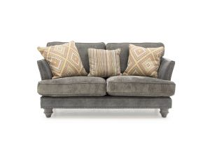 Hyde Claret 2 Seater Fabric Sofa With 3 Scatter Cushions